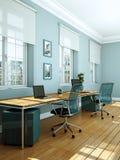 Rappresentazione bianca moderna di interior design 3d del Ministero degli Interni Immagine Stock Libera da Diritti