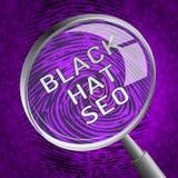Rappresentazione black hat di Seo Website Optimization 3d Illustrazione di Stock