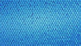 Rappresentazione blu dell'estratto 3D del modello di esagono illustrazione di stock