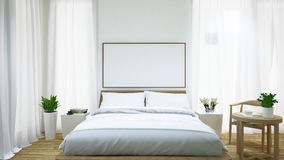 Rappresentazione camera da letto e tavolino da salotto/3d Fotografia Stock Libera da Diritti