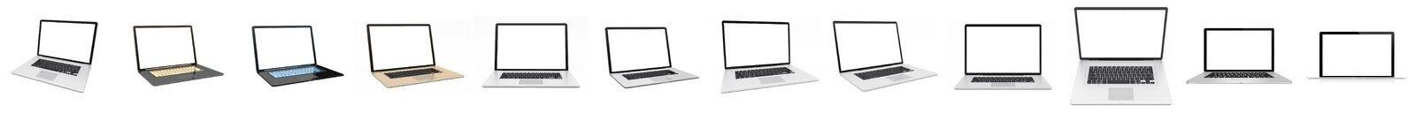 Rappresentazione d'argento digitale moderna del pacchetto 3D del computer portatile Immagini Stock Libere da Diritti