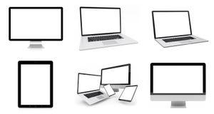 Rappresentazione d'argento digitale moderna del pacchetto 3D del dispositivo di tecnologia Fotografie Stock