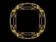 rappresentazione 3D con il modello astratto giallo di frattale Fotografia Stock Libera da Diritti