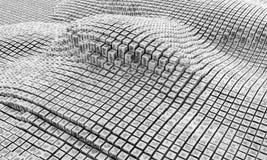 rappresentazione 3d Cubi, colonne, quadrati e rettangoli Fotografie Stock