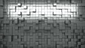 rappresentazione 3d Cubi espelsi in bianco e nero sottragga la priorità bassa ciclo video d archivio