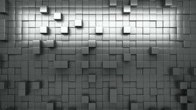 rappresentazione 3d Cubi espelsi in bianco e nero sottragga la priorità bassa ciclo stock footage