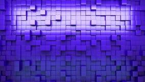 rappresentazione 3d Cubi espelsi blu sottragga la priorità bassa ciclo stock footage