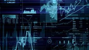 rappresentazione 3D degli indici di borsa nello spazio virtuale Sviluppo economico, recessione fotografia stock libera da diritti