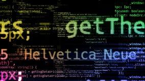 rappresentazione 3D dei blocchi astratti di codice situati nello spazio virtuale illustrazione di stock