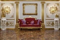 rappresentazione 3d del corridoio in renderer classico della corona del cinema 4D di stile Fotografia Stock