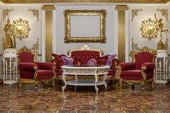 rappresentazione 3d del corridoio in renderer classico della corona del cinema 4D di stile Fotografie Stock Libere da Diritti