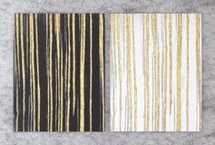 rappresentazione 3D del marmo in bianco e nero con stagnola dorata per la carta dell'invito di saluto e di nozze o il vostro inte illustrazione vettoriale