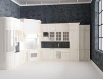 rappresentazione 3d dell'interno di lusso della cucina illustrazione di stock