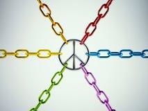rappresentazione 3D dell'unito di per pace Fotografia Stock Libera da Diritti