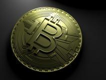 rappresentazione 3D della moneta Bitcoin Immagine Stock Libera da Diritti