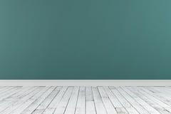 rappresentazione 3d della parete dipinta stanza vuota Fotografia Stock