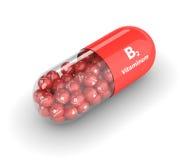 rappresentazione 3d della pillola della vitamina B2 Fotografia Stock Libera da Diritti