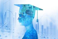 rappresentazione 3d della siluetta umana virtuale sul backgroun di tecnologia royalty illustrazione gratis
