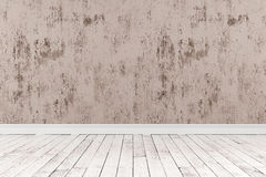 rappresentazione 3d della stanza vuota con i pavimenti di legno Fotografia Stock