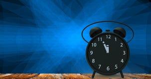 rappresentazione 3d della sveglia con i piccoli minuti al cloc del ` di dodici o Immagini Stock Libere da Diritti