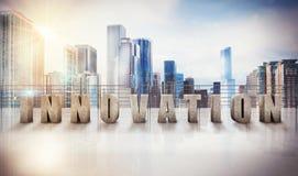 rappresentazione 3d della vista dell'innovazione di affari Immagini Stock