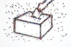 rappresentazione 3D delle elezioni della gente royalty illustrazione gratis