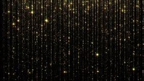 rappresentazione 3D delle particelle luminose di caduta dell'estratto Pioggia affascinante per fondo illustrazione vettoriale