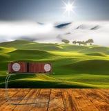 rappresentazione 3d di di Music Box con progettazione di fasion e fondo piacevole Fotografia Stock