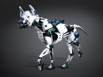 rappresentazione 3D di un cane futuristico del robot royalty illustrazione gratis