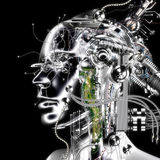 rappresentazione 3D di un cyborg Fotografia Stock