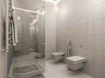 rappresentazione 3D di un interior design del bagno per i bambini Fotografie Stock Libere da Diritti