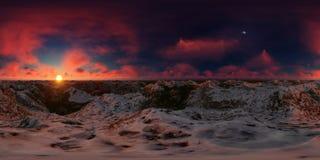 rappresentazione 3d di un panorama grande del lago delle montagne Fotografie Stock