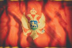 rappresentazione 3d di una bandiera del Montenegro Immagine Stock Libera da Diritti