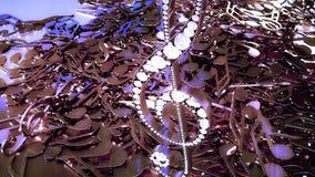 rappresentazione 3D di una chiave tripla musicale e delle note di caduta Fotografia Stock Libera da Diritti