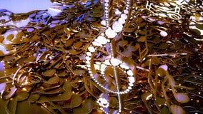 rappresentazione 3D di una chiave tripla musicale e delle note di caduta Fotografia Stock
