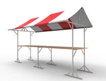 rappresentazione 3d di una stalla del mercato isolata nel fondo bianco dello studio royalty illustrazione gratis