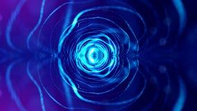 rappresentazione 3d, fondo della fantascienza delle particelle d'ardore con profondità di campo e bokeh Linea della forma delle p Fotografie Stock Libere da Diritti