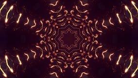 rappresentazione 3d, fondo della fantascienza delle particelle d'ardore con profondità di campo e bokeh Linea della forma delle p Immagini Stock
