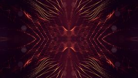 rappresentazione 3d, fondo della fantascienza delle particelle d'ardore con profondità di campo e bokeh Linea della forma delle p Immagine Stock Libera da Diritti
