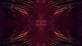 rappresentazione 3d, fondo della fantascienza delle particelle d'ardore con profondità di campo e bokeh Linea della forma delle p royalty illustrazione gratis