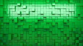 rappresentazione 3d Il verde ha espulso cubi sottragga la priorità bassa ciclo royalty illustrazione gratis
