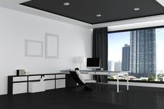 rappresentazione 3D: illustrazione dell'ufficio del desktop creativo del progettista Fotografie Stock Libere da Diritti