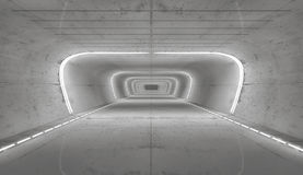 rappresentazione 3d Interno vuoto futuristico Immagini Stock Libere da Diritti