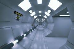 rappresentazione 3d Interno vuoto futuristico Fotografia Stock Libera da Diritti