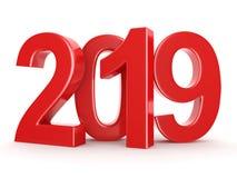 rappresentazione 3D le cifre rosse da 2019 nuovi anni illustrazione di stock