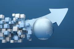 rappresentazione 3d, modello 3d della freccia, il concetto di sviluppo e direzione royalty illustrazione gratis