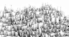 rappresentazione 3d Una città futuristica Immagine Stock