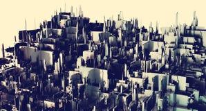rappresentazione 3d Una città futuristica Fotografia Stock Libera da Diritti