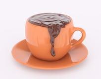 Rappresentazione del cioccolato 3d della tazza Fotografia Stock