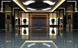 rappresentazione del corridoio dell'hotel 3d Fotografie Stock Libere da Diritti